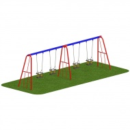 Timber 2.0m Swing - x4 Cradle Seats