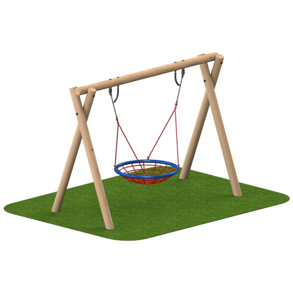 Timber 2.4m Bird's Nest Swing