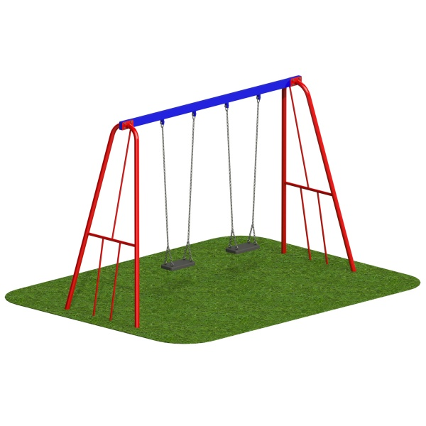 Steel 2.4m Swing - x2 Flat Seats